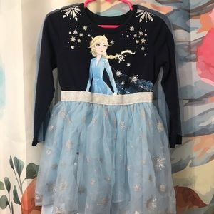Frozen long sleeve dress with cape